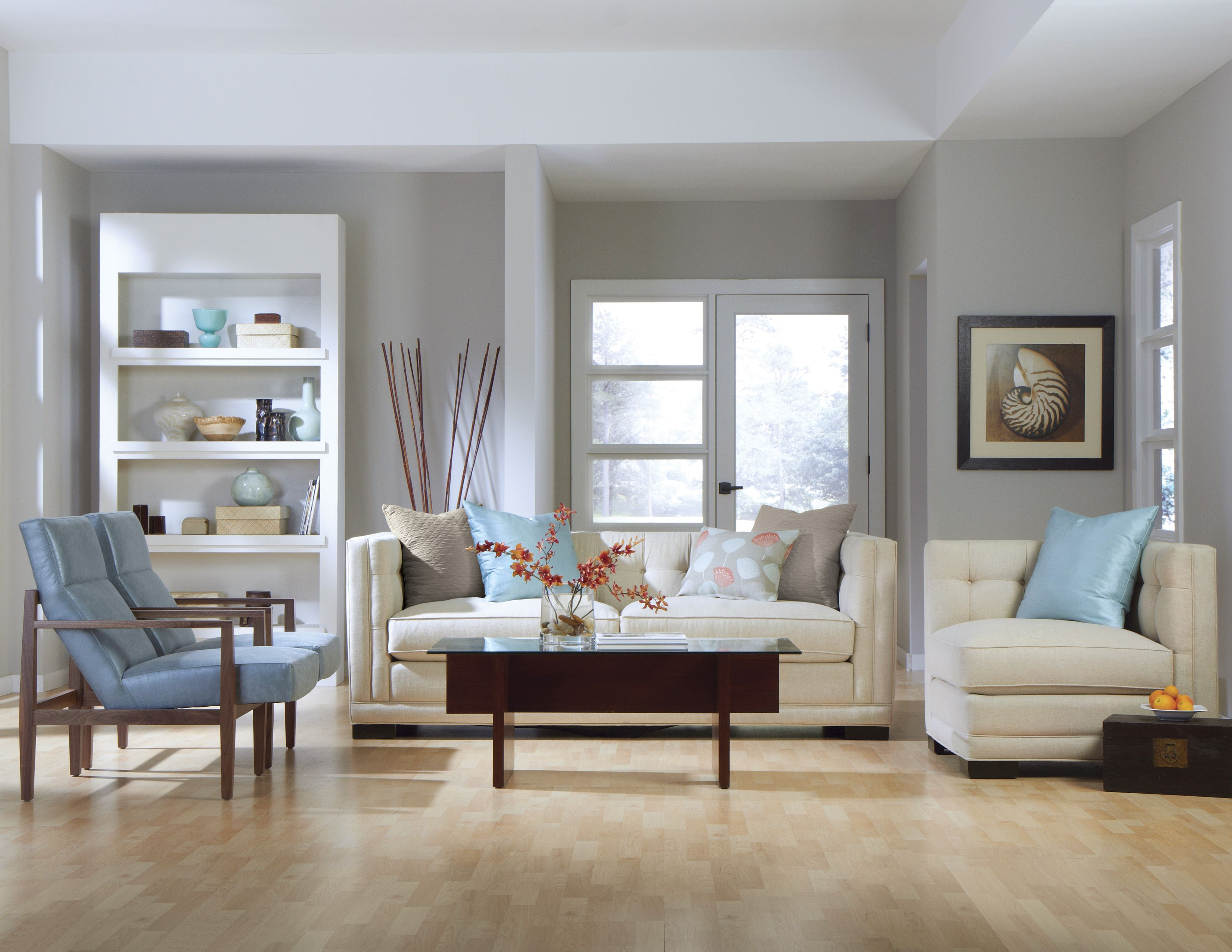 Our Abby Sofa Set With A Serene Pastel Blue And A Lovely Cream Is
