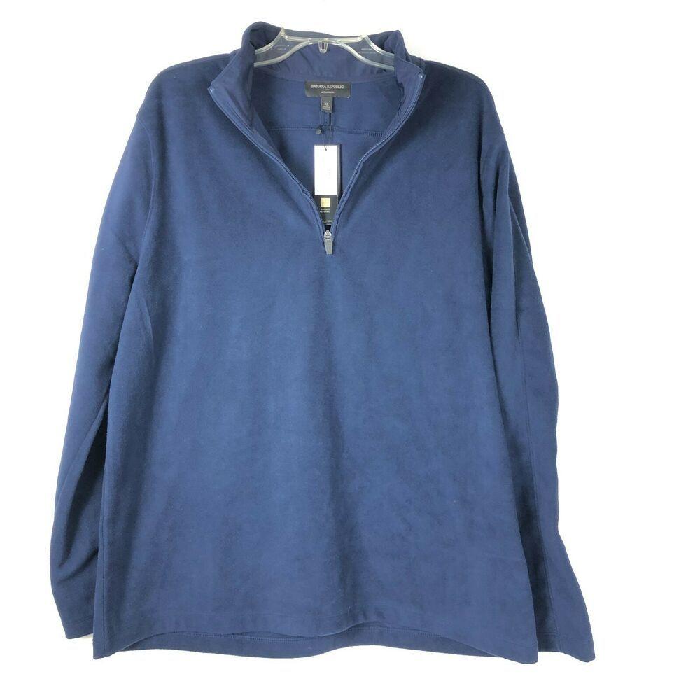 Nwt Banana Republic Mens Ultrawarm Sweatshirt Size Xl Dark Blue 3 4 Ziper 02p Bananarepublic 12zip Sweatshirts Banana Republic Dark Blue [ 1000 x 1000 Pixel ]