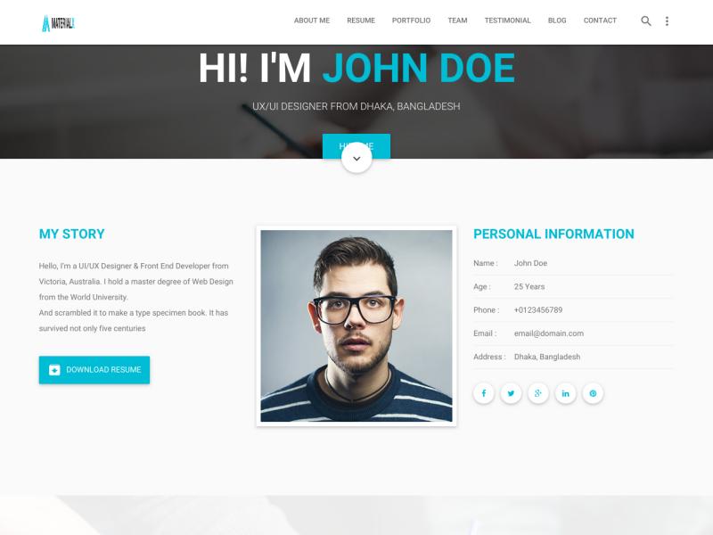 personal resume websites