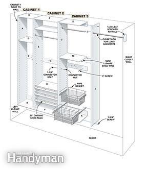 Build Your Own Melamine Closet Organizer Closet Organization