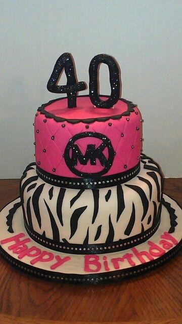 25c59284a Michael Kors cake Bolo De 40 Anos, Bolos De Aniversário De 40 Anos, Ideias