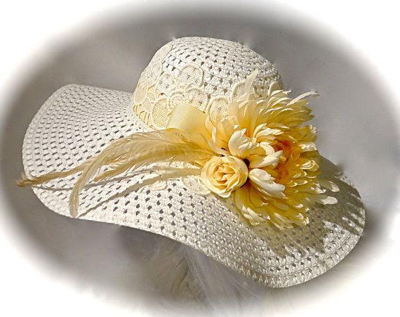 3ac550441591a White Bridal Hat White Derby Wedding Accessories Women s Hats BH-136 ...