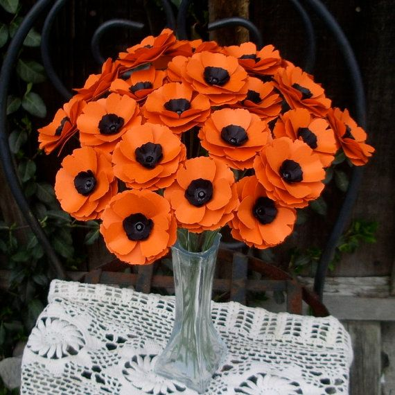 Wedding Flowers By Annette: Would Be Awesome For The Reunion! Poppy Love Paper Flowers