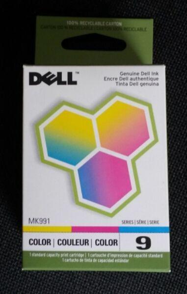 2x Dell Color Ink Print (toner) Cartridges Series 9; MK991 Brand New Sealed