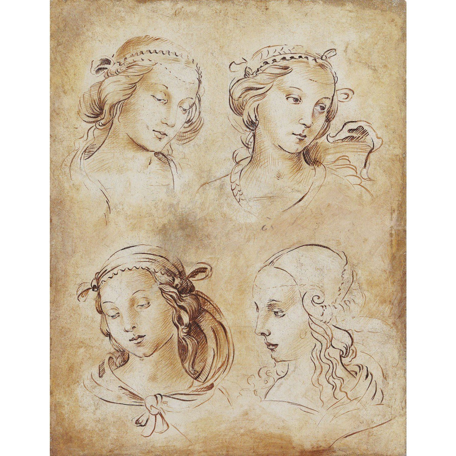 Art. 1729 - Esquisse de visages féminins
