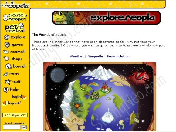 Sunnyneo Neopets Layout Change Retro Neopets Layout