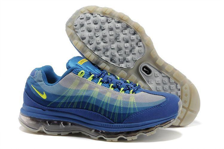 33cc3b0c04d Men s Nike Air Max 95 360 Blue Grey Volt  Mens Nike Air Max 95 360