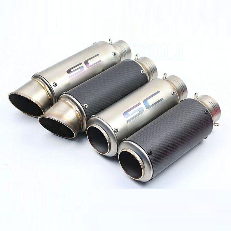 51mm 61mm moto universelle silencieux d 39 chappement modifi sc d 39 chappement en acier inoxydable. Black Bedroom Furniture Sets. Home Design Ideas