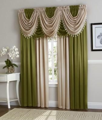 Sage Green Beige Hyatt Curtain Set