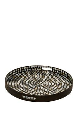 Black Wood Lacquer Tray