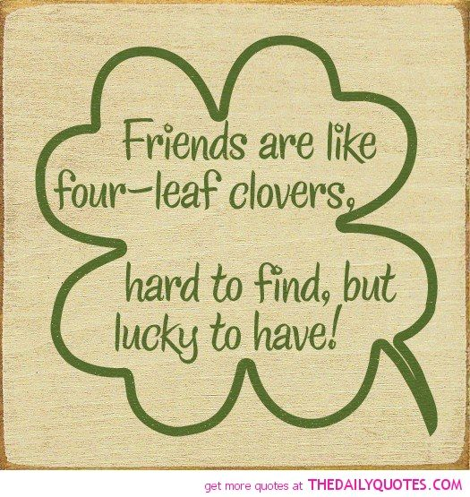 Four-leaf-clovers-lucky-hard-to-find- Quote