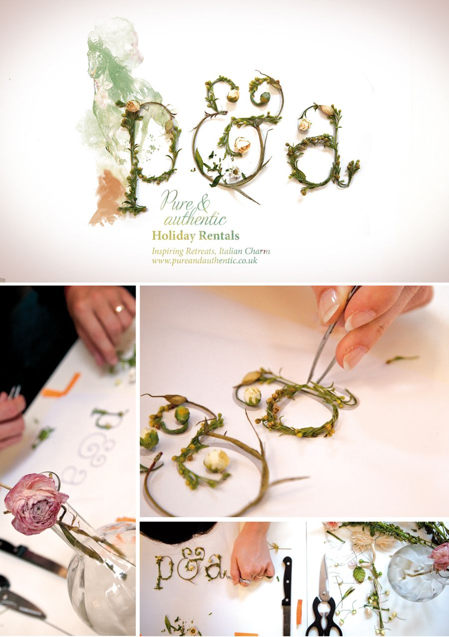 Pure & Authentic by Atelier Bidule. Love the use of actual plants and direct photography to create the type.