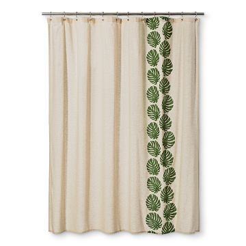 Shower Curtain Leaf Green Grapes Threshold Curtains Green