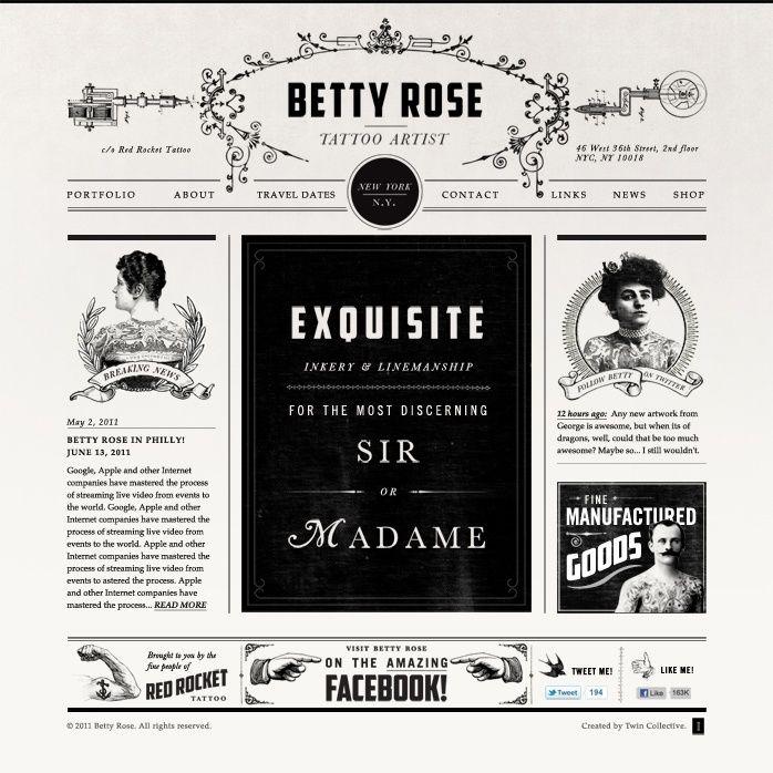 Betty Rose Tattoo Website Web | tattoos picture tattoo websites ...