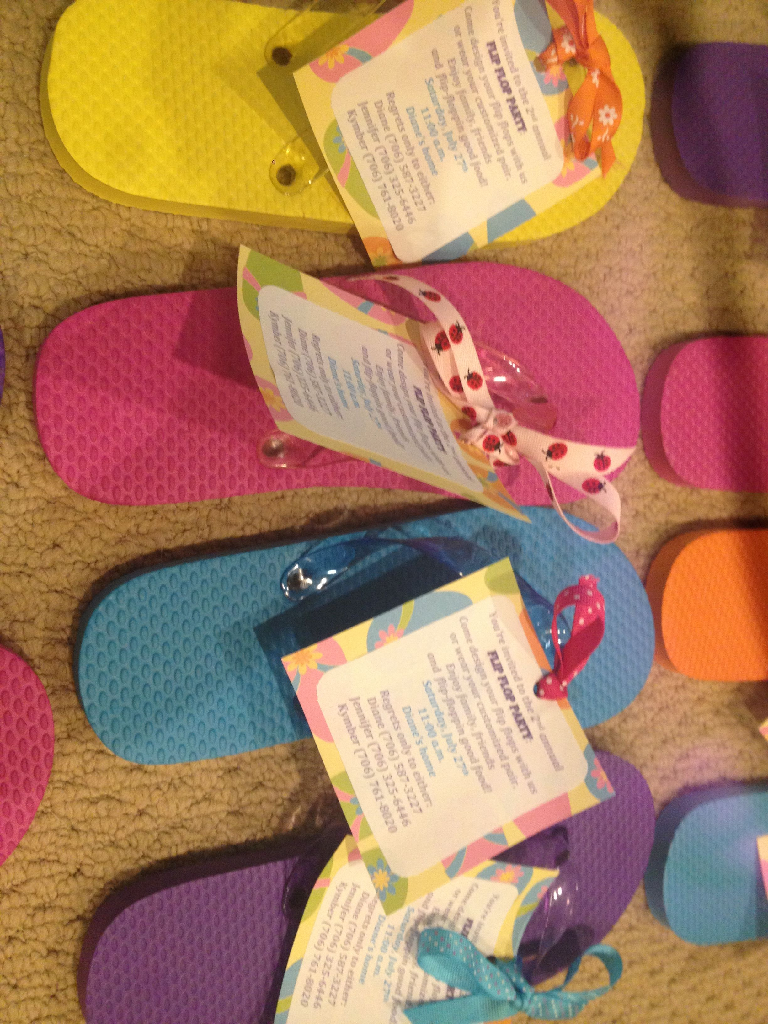 Flip flop party invitations Did you know you can MAIL A FLIP FLOP – Flip Flop Party Invitations