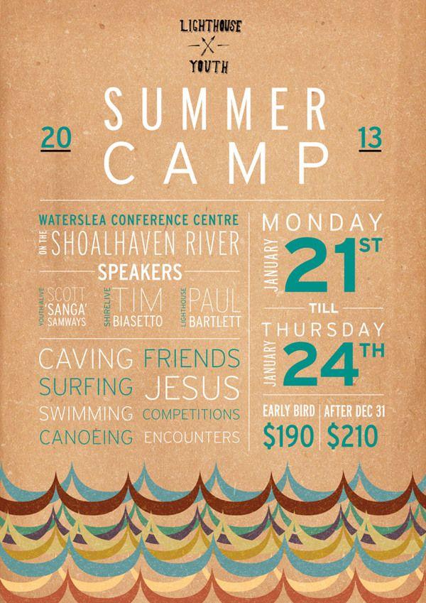 Summer Camp 2013 by Jo Tsai, via Behance
