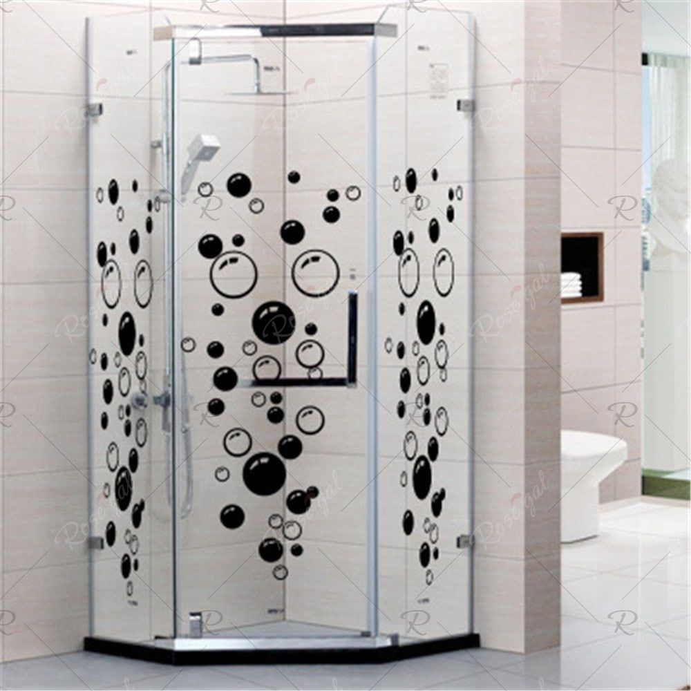 Shower Baby Room Removable Bathroom Decor Decals Home Decoration Wall Stickers