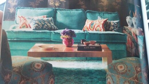 Living room. Love the colors