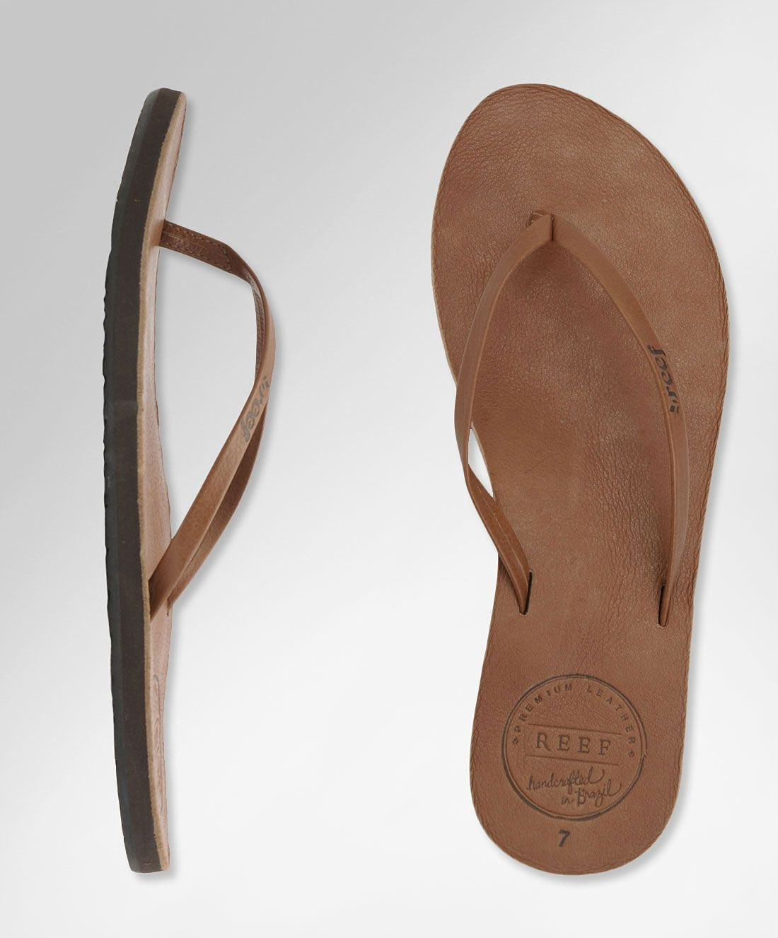 Reef Leather Uptown Reef Girls Leather Flip Flops And