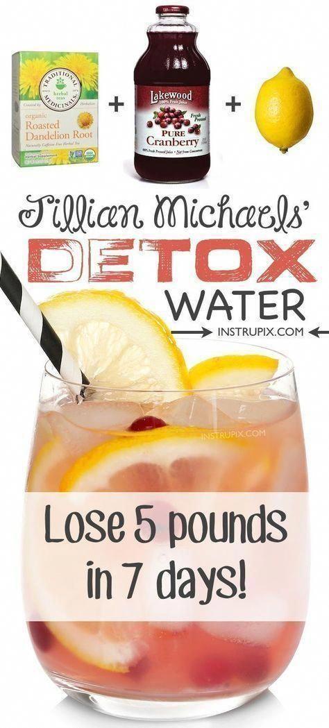 #fitness #health JIllian Michaels detox water to feel better in 7 days. #detox #LowFatAndLowSodiumDi...