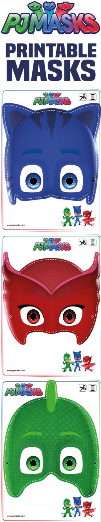 printables pj masks owlette gekko catboy masks invitations