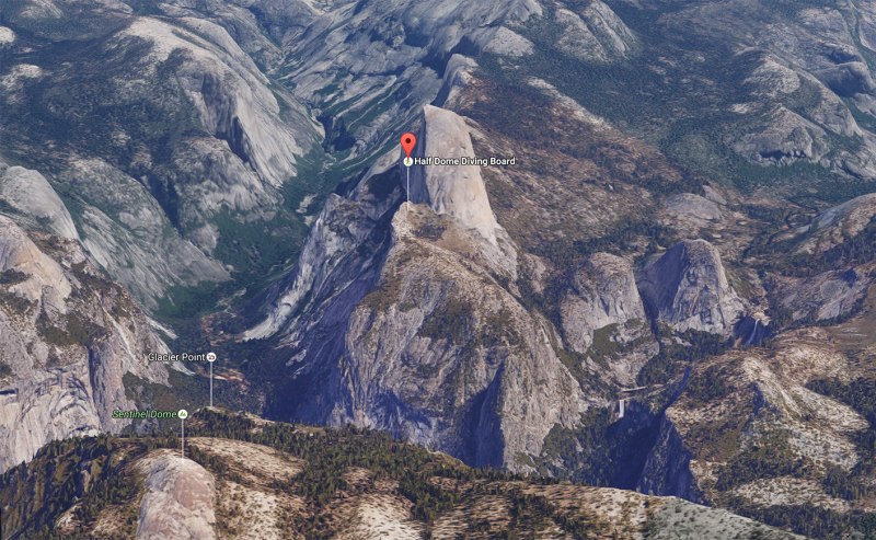 Hike Report: Half Dome's Diving Board in Yosemite | Where the Fire on map to grand canyon, map to alaska, map to hawaii, map to new orleans, map to canada, map to disneyland, map to mexico, map to minnesota, map to chicago, map to las vegas, map to new york, map to yosemite, map to ellis island, map to the alamo, map to california, map to united states, map to niagra falls, map to maine, map to paris, map to yellowstone national park,