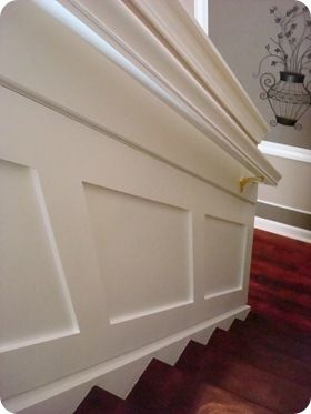 How To Install Inexpensive Molding On Stairs Board And Batten