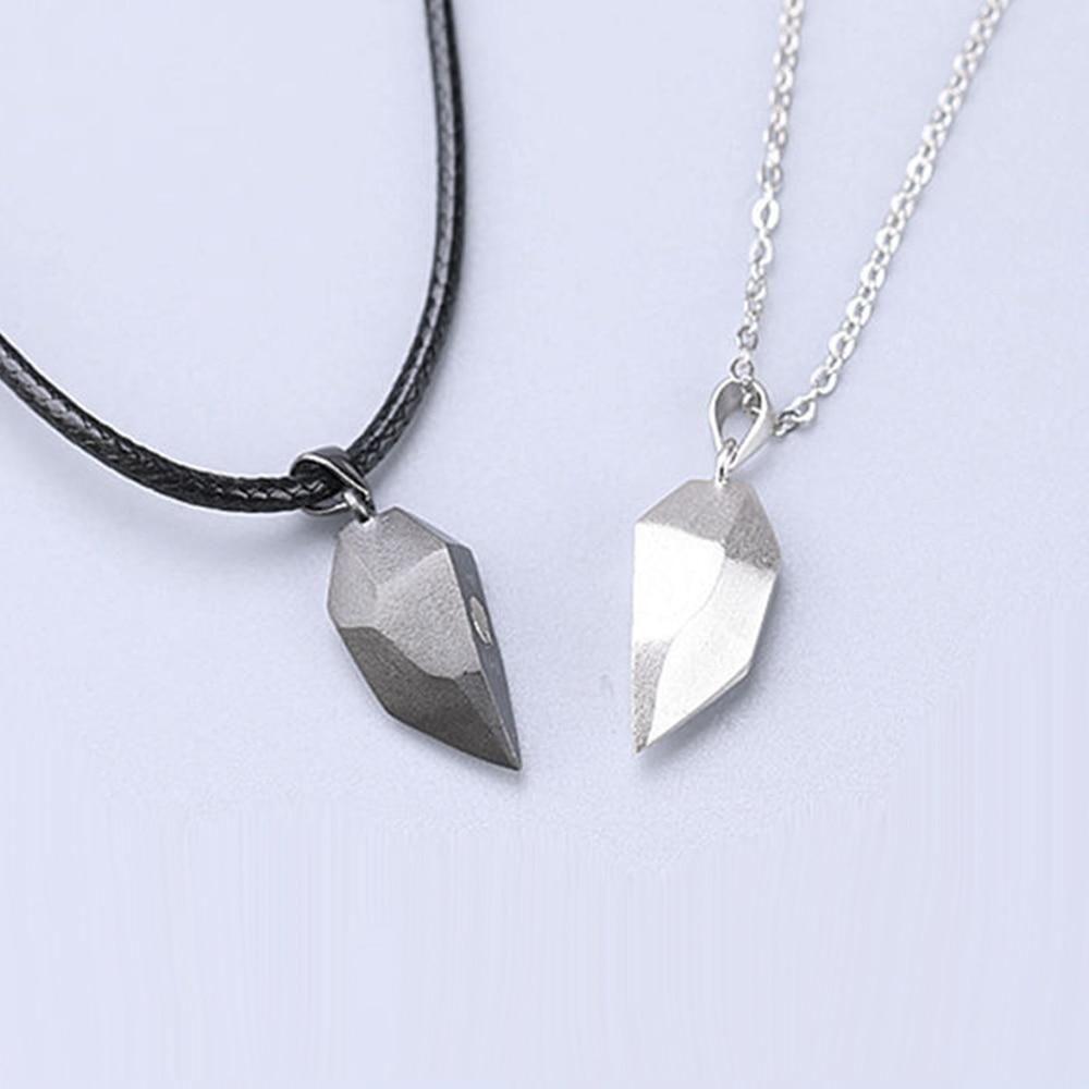Magnetic Couple Heart Shape Necklace