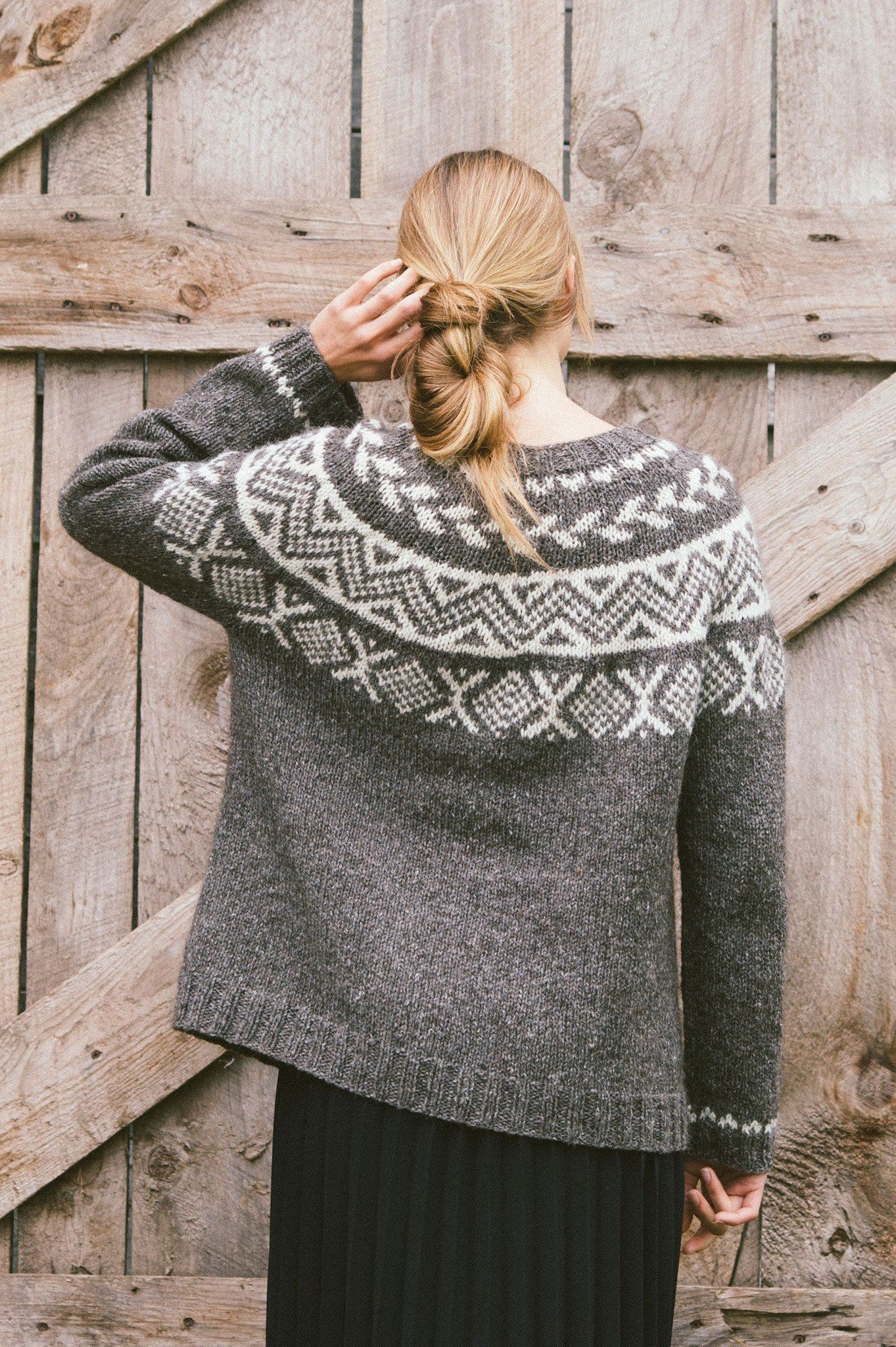 fec1ff75ea049 birch pullover by pam allen   from plain   simple  11 knits to wear every  day   in quince   co. owl
