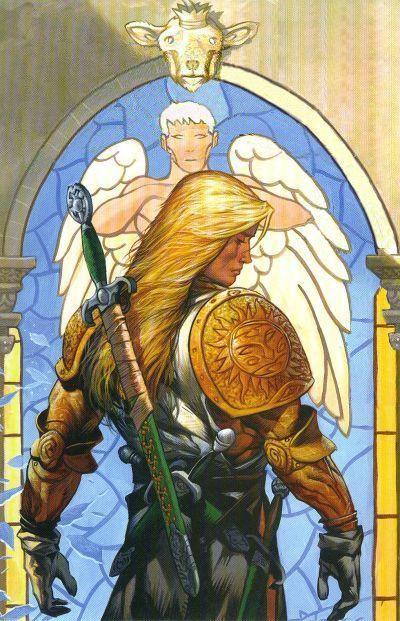 Lucifer Morningstar- Michael back cover art from Exodus