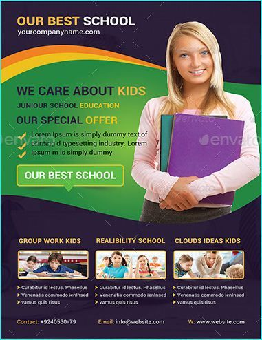 20 Professional Educational PSD School Flyer Templates - web flyer