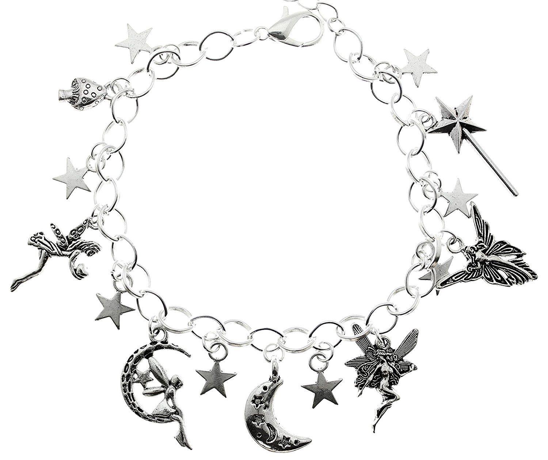 AVBeads Jewelry Fairy Charm Bracelet Silver JWL-CBF (Star