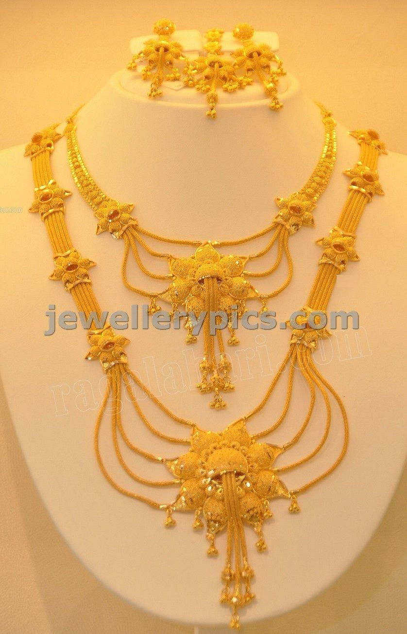 Gold Haram Designs In Khazana Jewelelrs Latest Jewellery