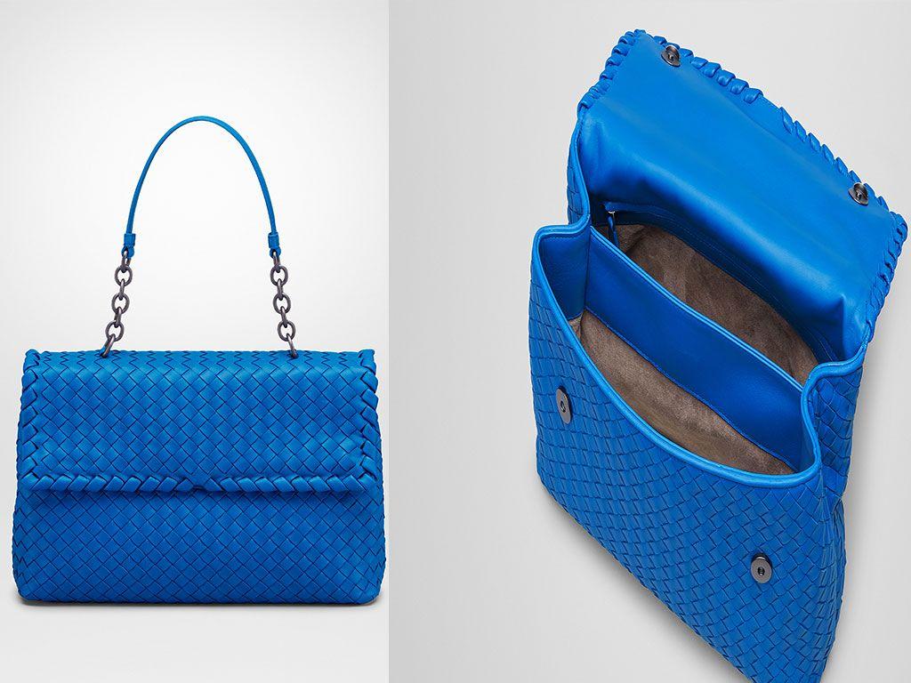 Signal Blue Intrecciato Nappa Olimpia Bag  54667a6a3474c