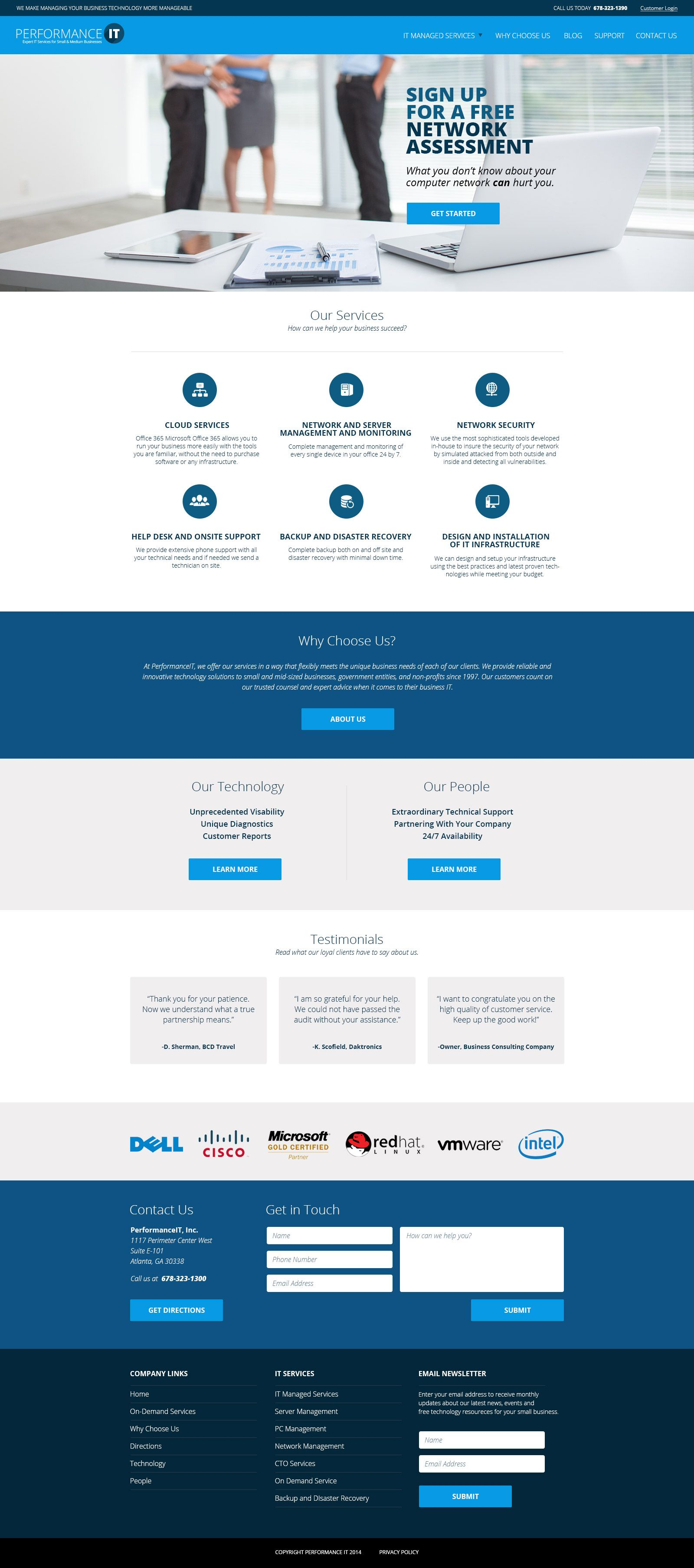 Website Design For An It Company