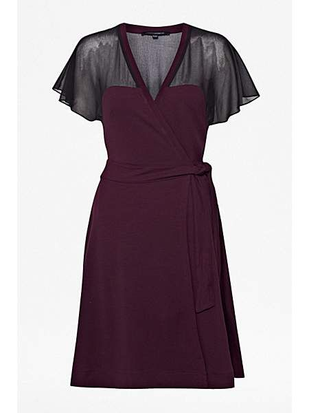 French Connection Alexa Jersey Cross Over Dress