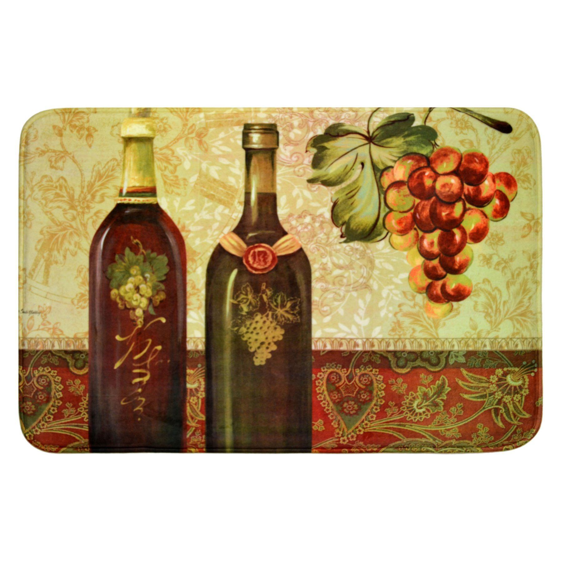 Daisy Fuentes Relaxed Chef DFRC25 Vintage Wine Kitchen Mat ...