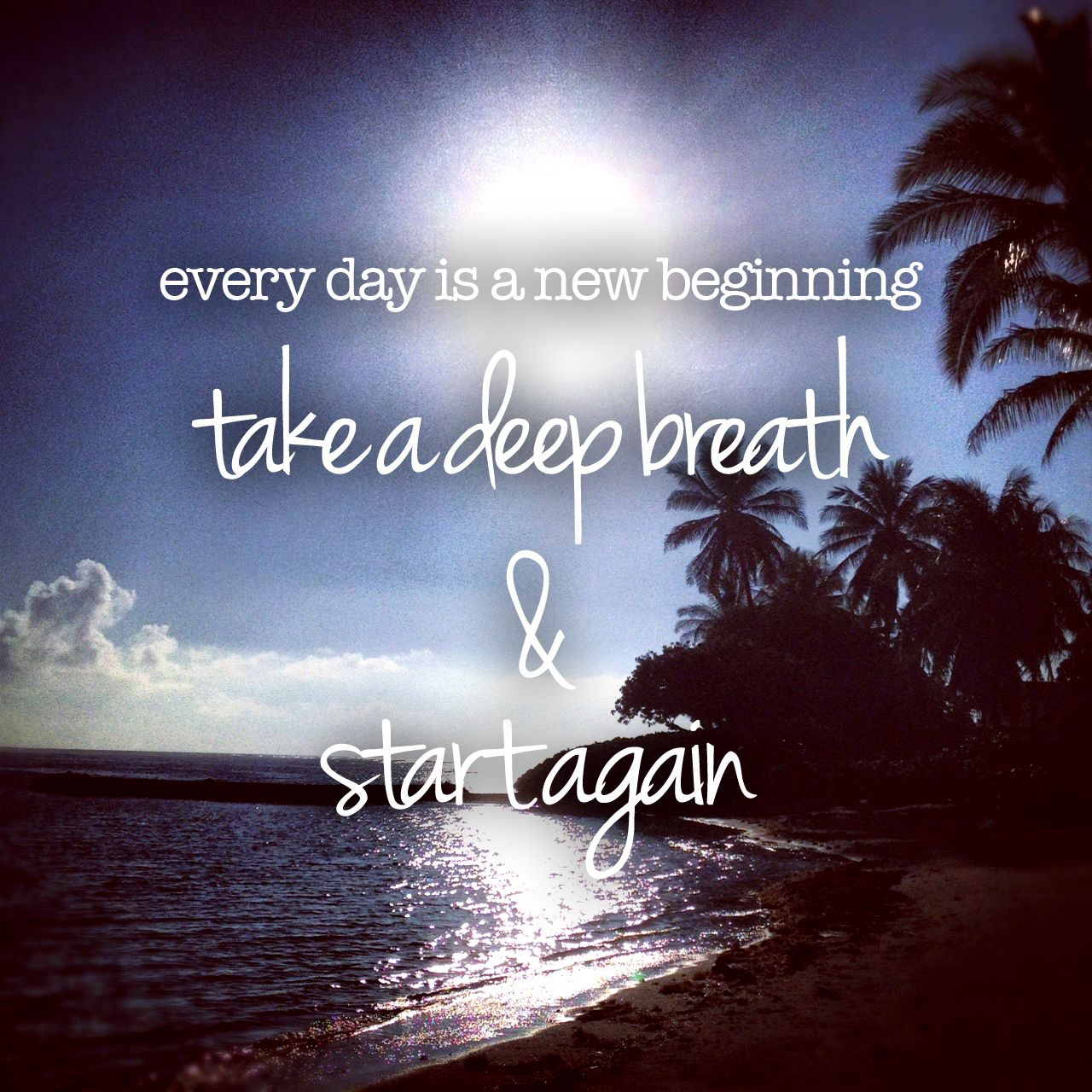 New Start Quotes: Every Day Is A New Beginning. Take A Deep Breath & Start
