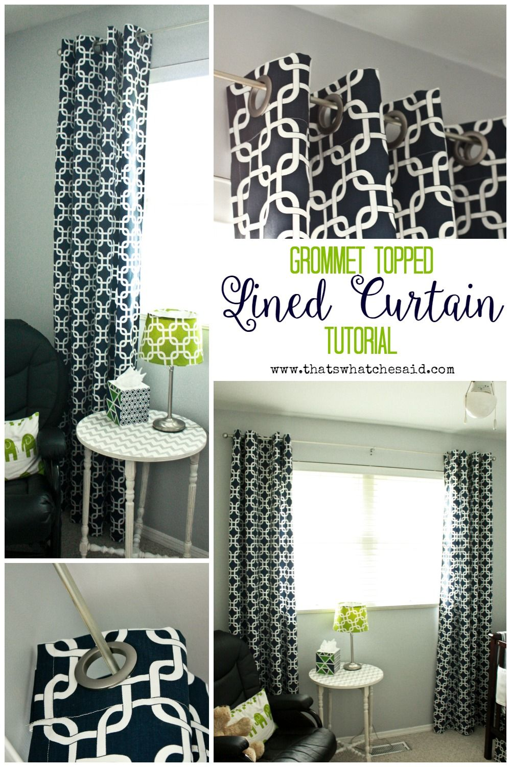 8 Best Panel Curtains Images On Pinterest: DIY Lined Grommet Top Curtain Panels