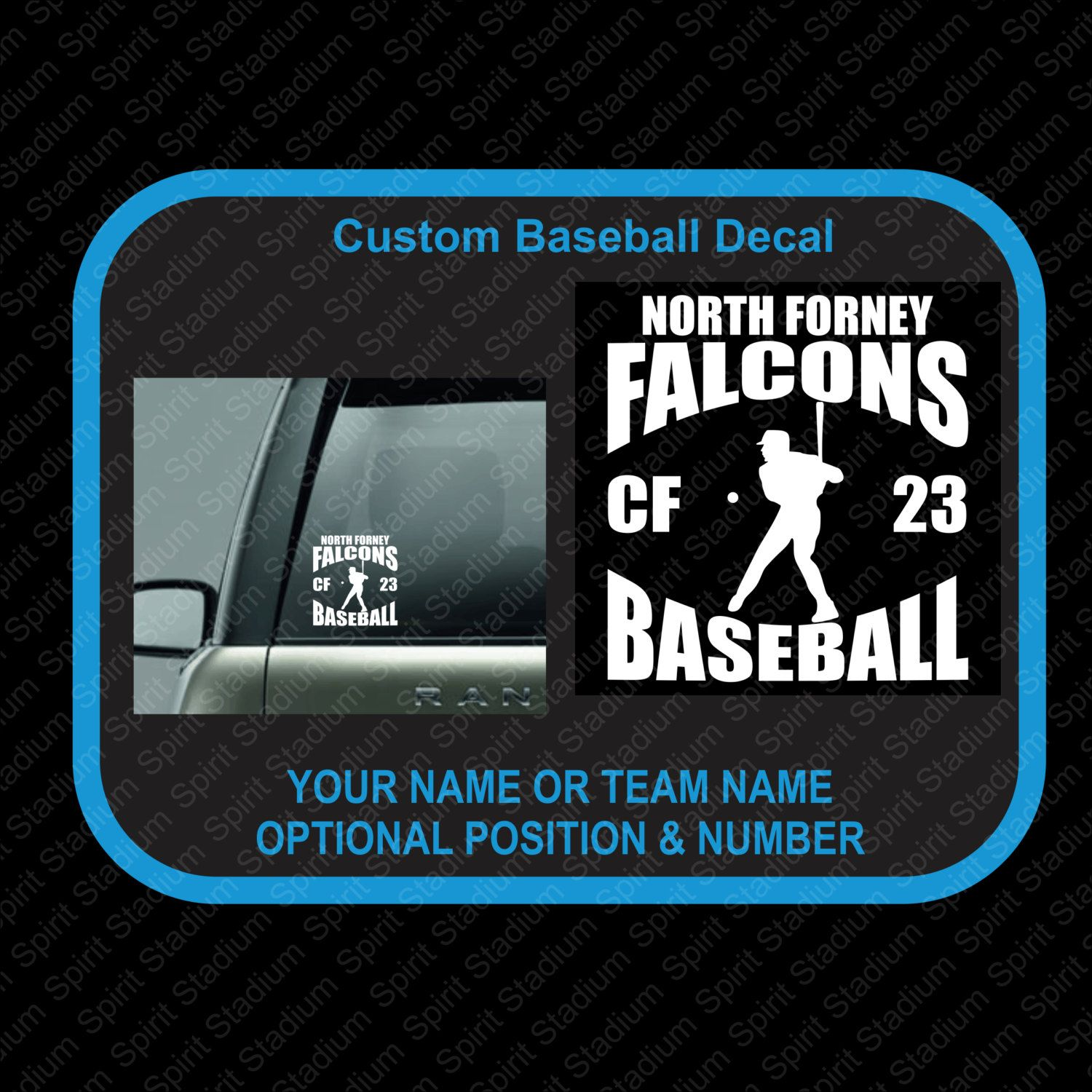 Baseball Decal Customizable Or Personalized Baseball Team Car - Team window decals personalized
