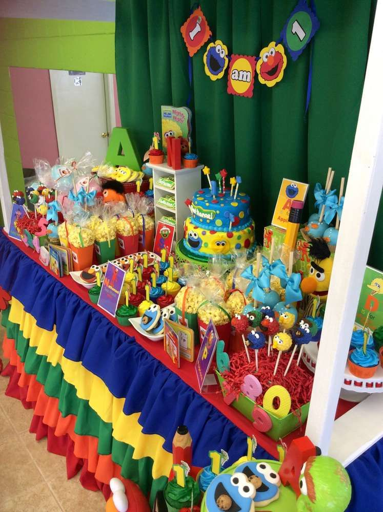Sesame Street Birthday Party Ideas Photo 1 Of 17 Catch
