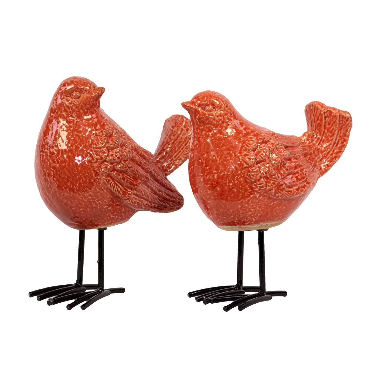 Urban Trends Collection Glossy Finish Bird Figurine with with Long Metal Legs