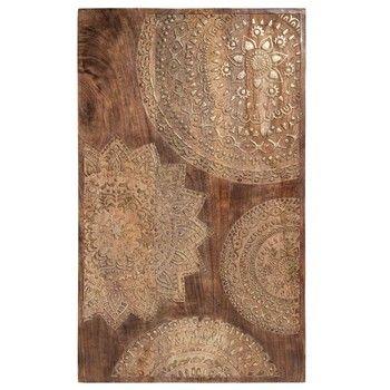 Tableau sculpté en bois doré 50 x 82 cm MANDALA Tableaux