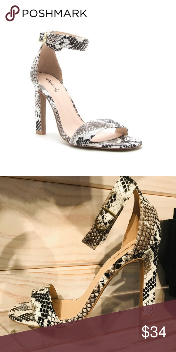 fb18479e2a9 New snakeskin heels New in box snakeskin heels Qupid Shoes Heels Snake Skin  Shoes