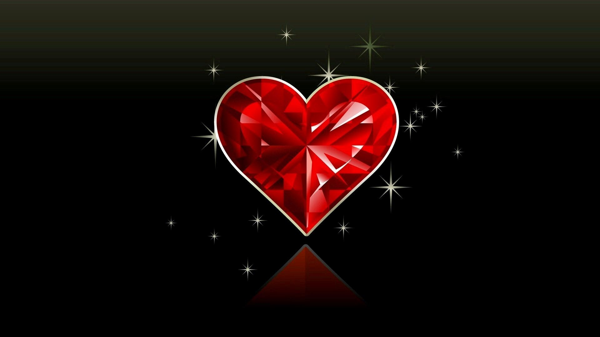 Love Images Hd Wallpapers 3450 Red Crystal Heart In Black Background Heart Wallpaper Love Wallpaper Heart Wallpaper Hd