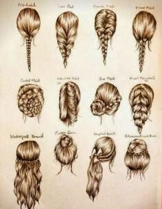 How To Draw Different Hairstyles Really Helps Hair Styles Hair Beauty Long Hair Styles