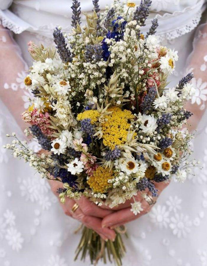 Bouquet De Mariage Avec Des Fleurs Sechees Pretty