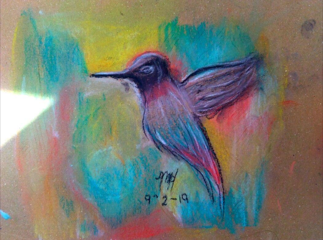 Colibri Dibujo By Mariaalejanda Prada Colorespasteles Dibujo