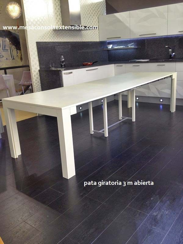 Mesa consola extensible convertible en mesa comedor | mesas ...