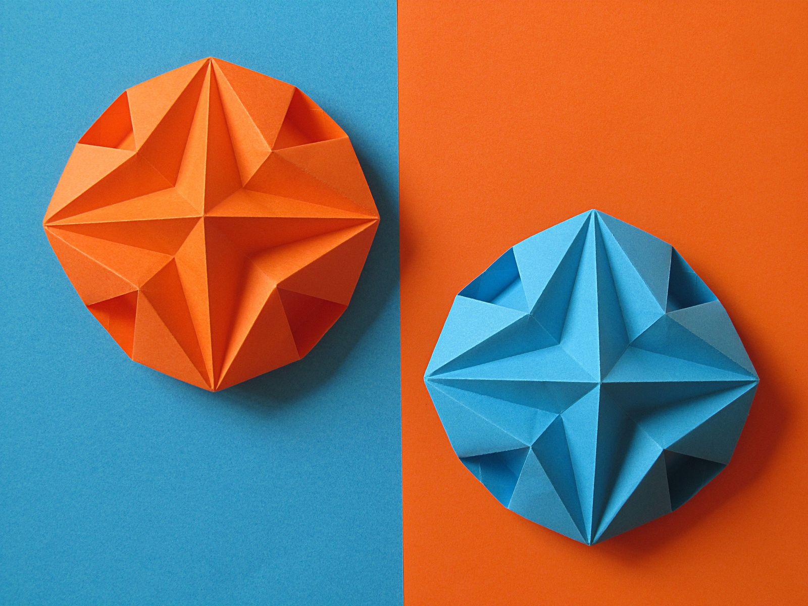 Stella Dodecagonale Dodecagonal Star Origami Wars Diagrams And Crease Patterns Starwarigami